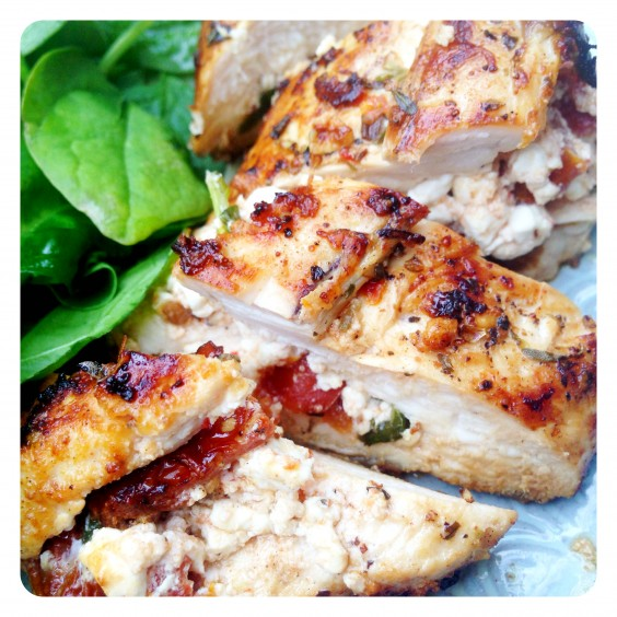 15. Sun-Dried Tomato and Cottage Cheese-Stuffed Chicken Breast
