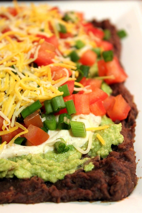 2. Healthy 7-Layer Bean Dip