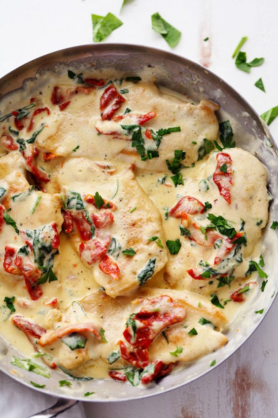 2. Creamy Tuscan Garlic Chicken