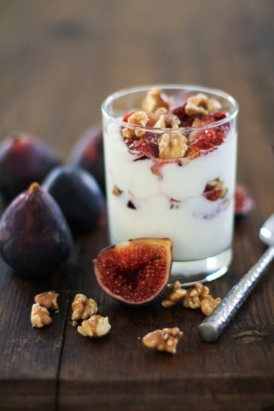 5. Roasted Fig and Walnut Parfait