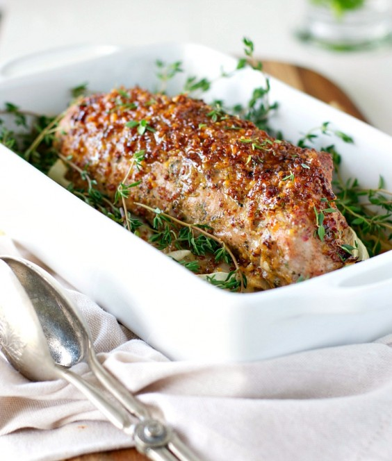 5. Honey Dijon Roasted Pork Tenderloin