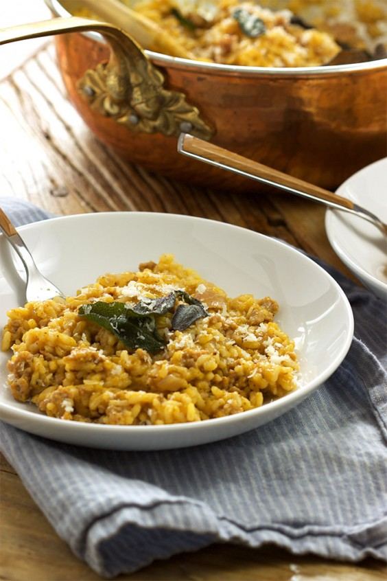 1. Butternut Squash Risotto With Sausage and Crispy Sage