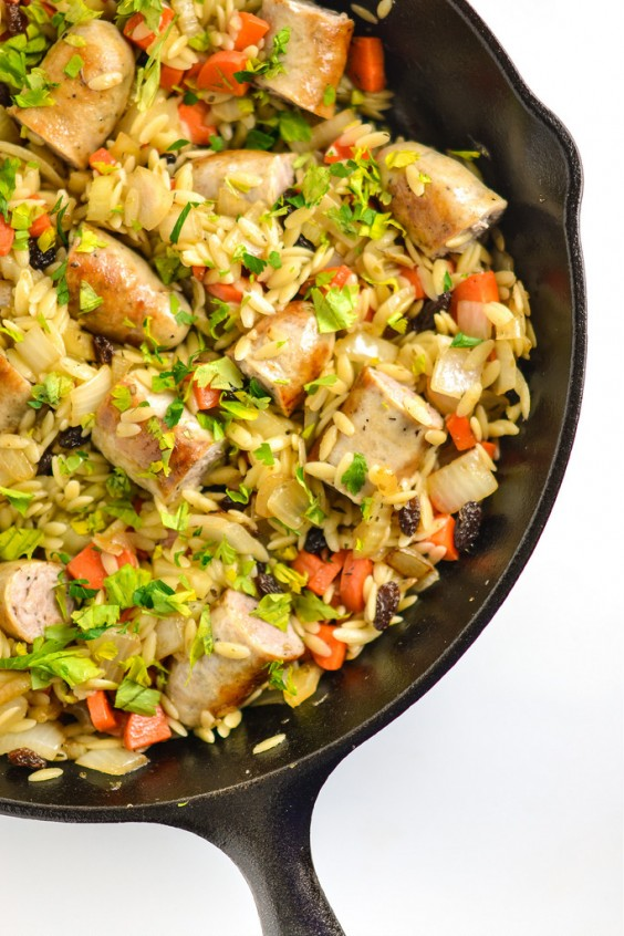 Orzo Pilaf With Italian Sausage Recipe