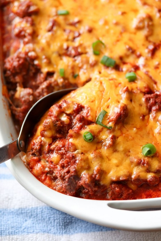 3. Low-Carb Sour Cream Beef Bake