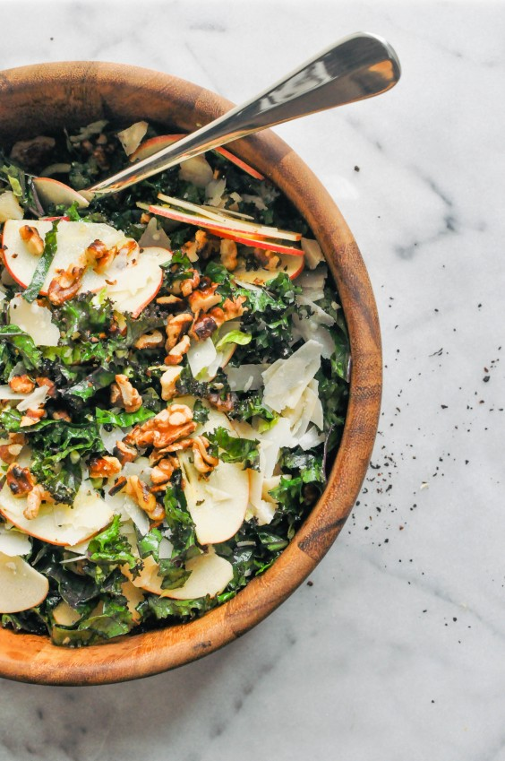 3. Shredded Brussels Sprouts, Kale, and Apple Salad