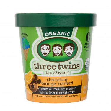 Three Twins Ice Cream Chocolate Orange Confetti