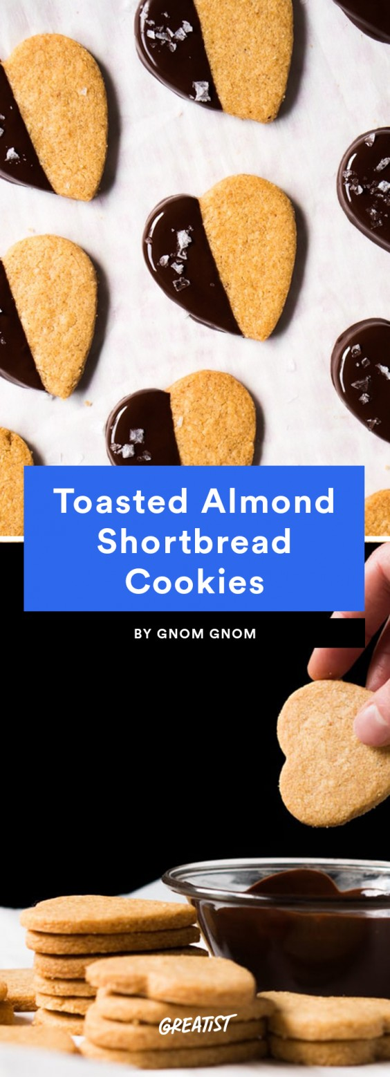9. Toasted Almond Shortbread Cookies