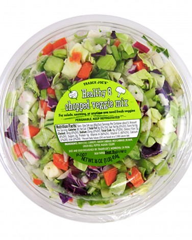 1. Trader Joe's Healthy 8 Chopped Veggie Mix
