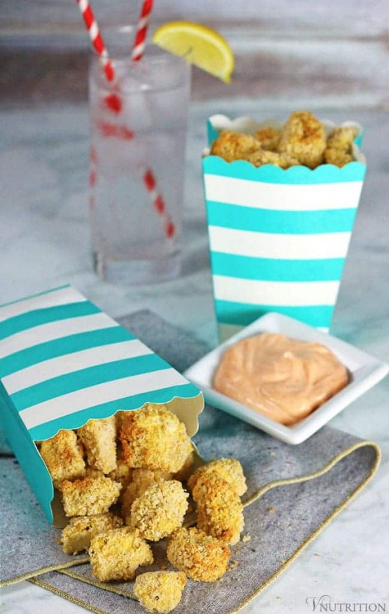 2. Air Fryer Popcorn Tofu