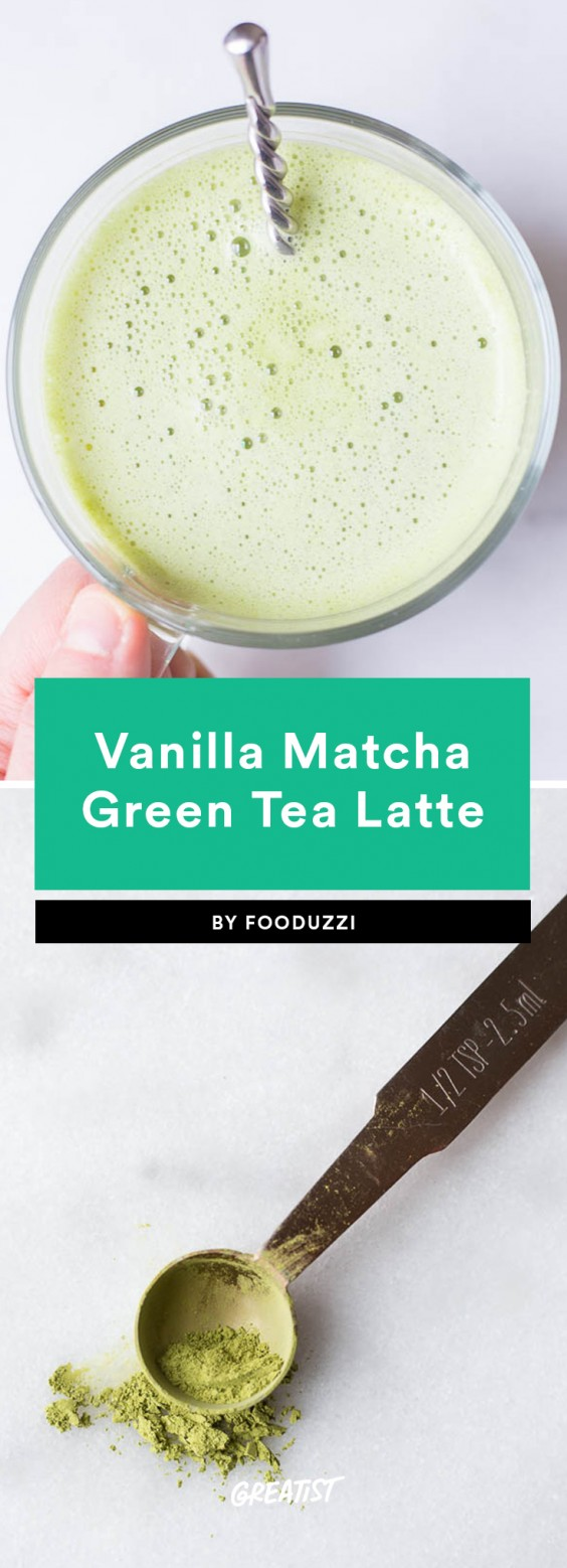 2. Vanilla Matcha Green Tea Latte