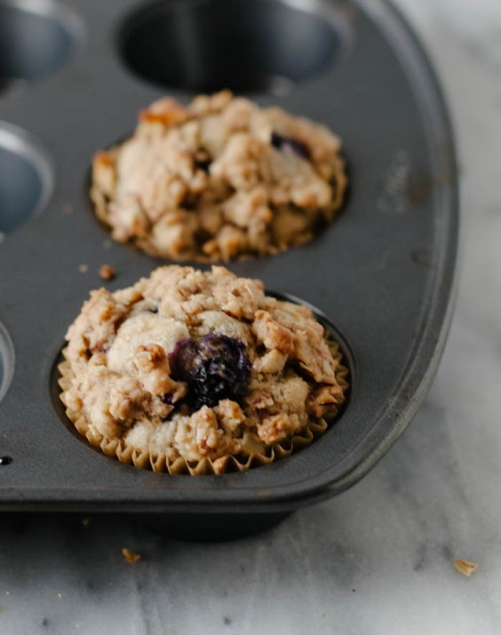 Cooking For Two: Vegan Blueberry Almond Crumb Muffins Recipe