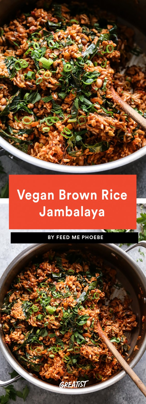 Vegan Brown Rice Jambalaya Recipe