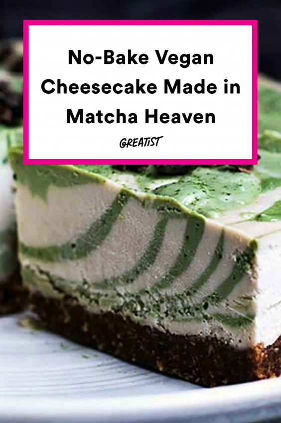 A No-Bake Vegan Cheesecake That Matcha Lovers Will Freak Out Over