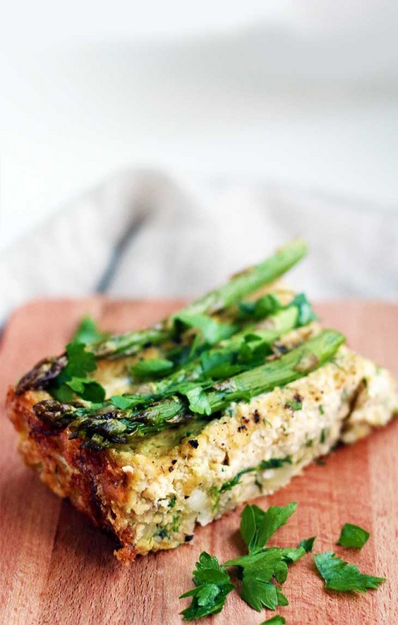 Tofu Recipes: Vegan Crustless Asparagus Quiche
