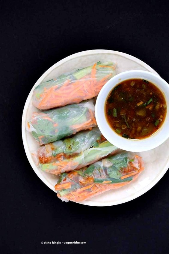2. Red Curry Tempeh Summer Rolls