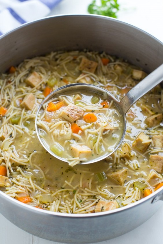 Tofu Recipe: Vegan Tofu Noodle Soup