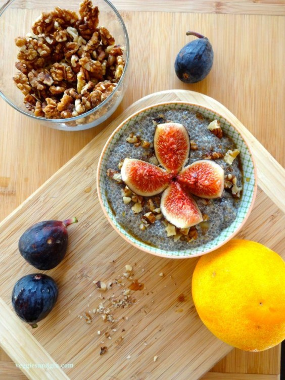 3. Citrus and Fresh Fig Chia Seed Pudding