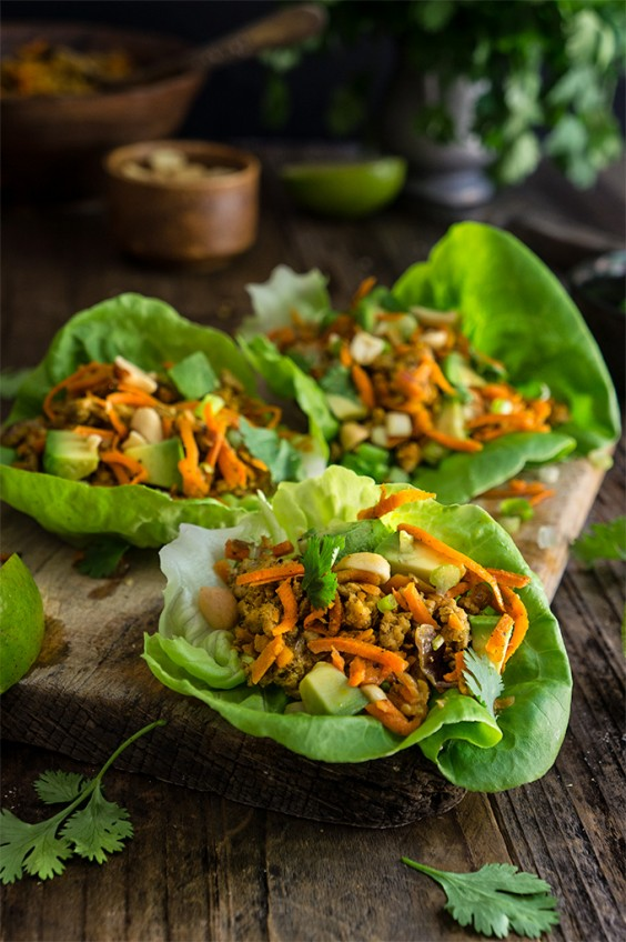 3. Spiced Ground Turkey Lettuce Wraps