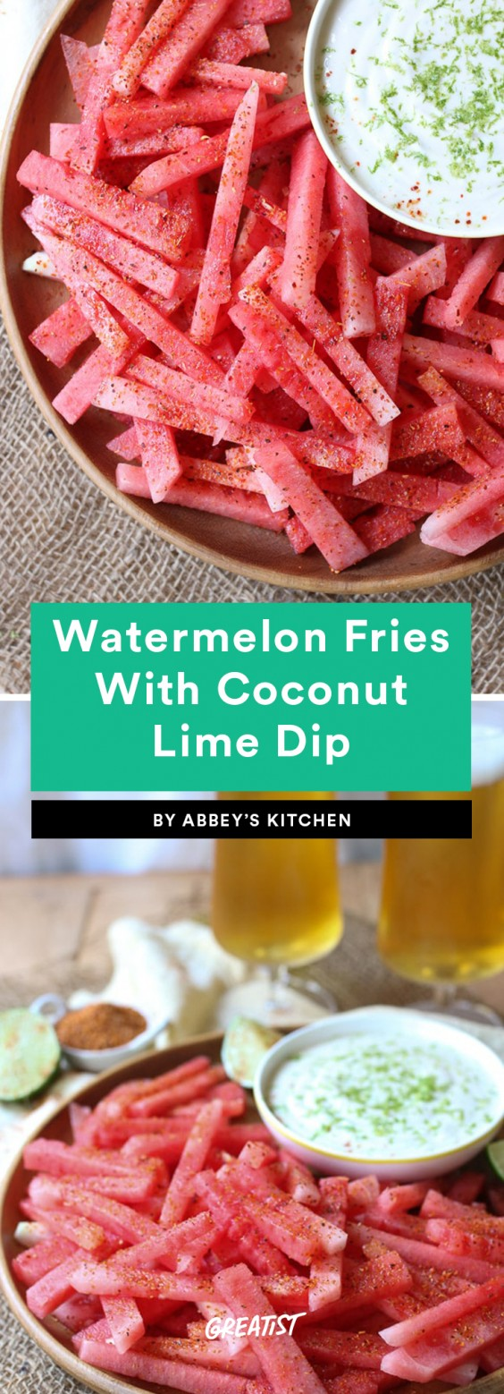 7. Watermelon Fries With Coconut Lime Dip