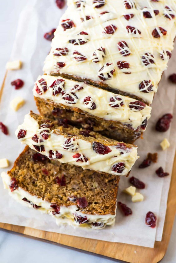 1. Cranberry Cream Cheese Banana Bread