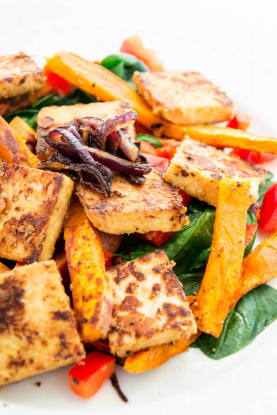 6. Marinated Tempeh Salad