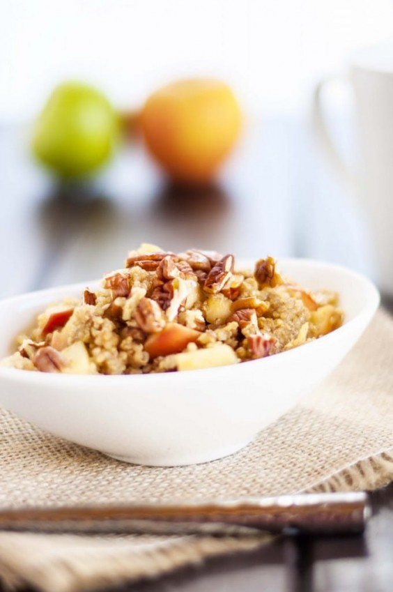 3. Apple Pecan Quinoa Breakfast