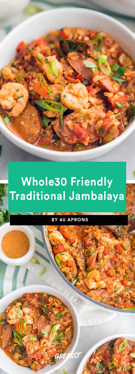 Whole30 Friendly Traditional Jambalaya Recipe