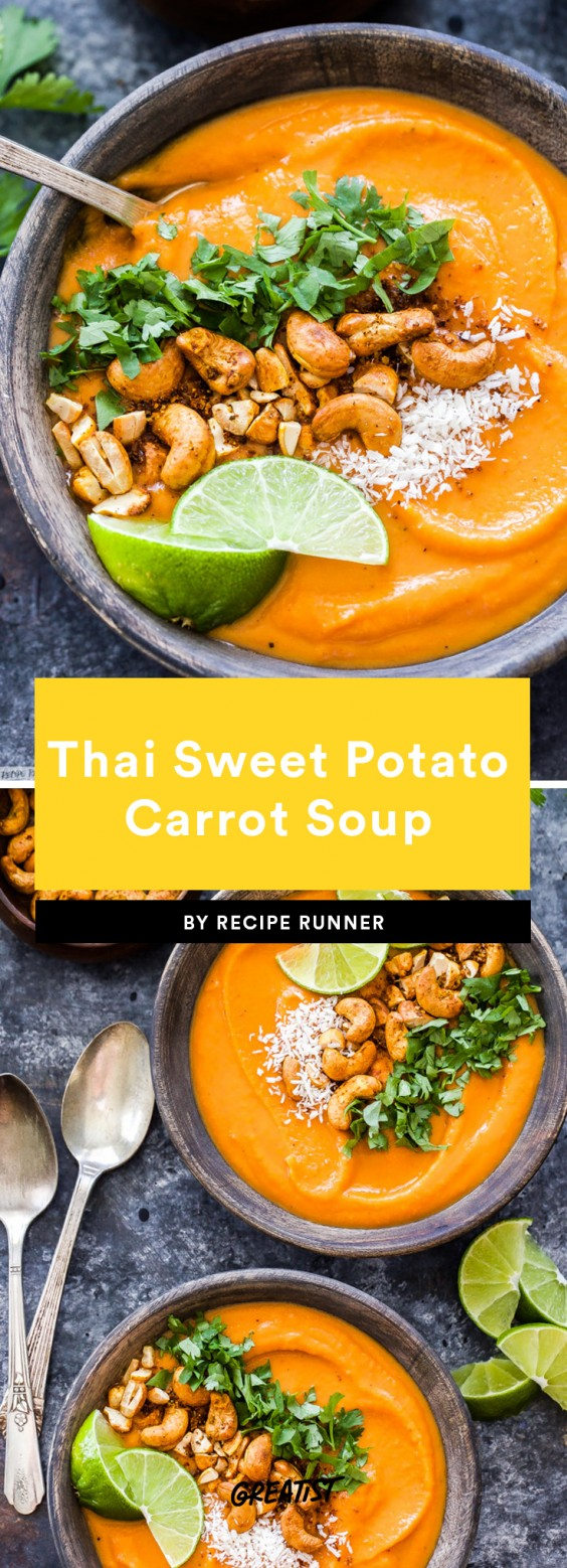 Thai Sweet Potato Carrot Soup