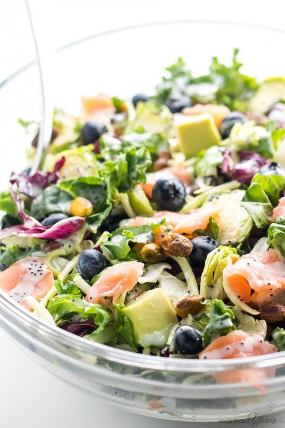 2. Salmon Kale Superfood Salad