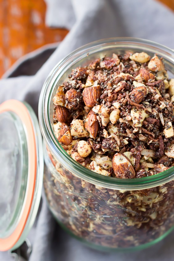 Homemade Granola Recipes: Paleo Chocolate Fudge Coconut Granola