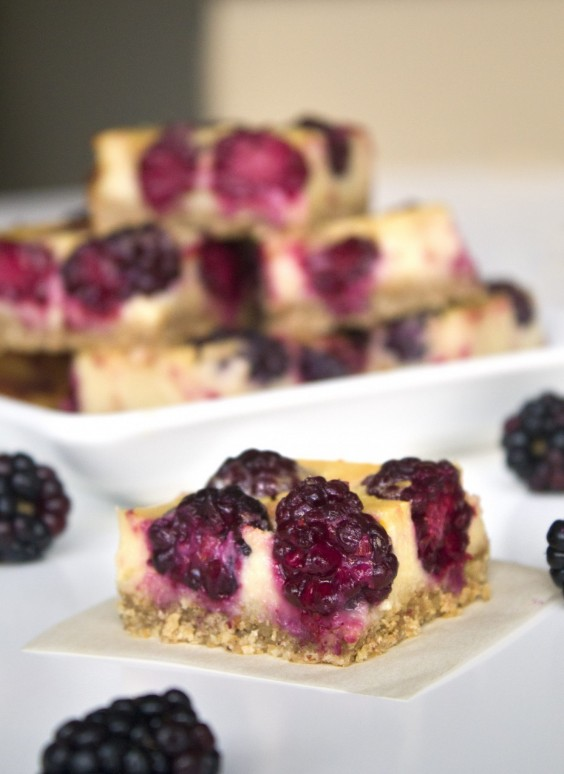 3. Healthier Lemon Blackberry Bars