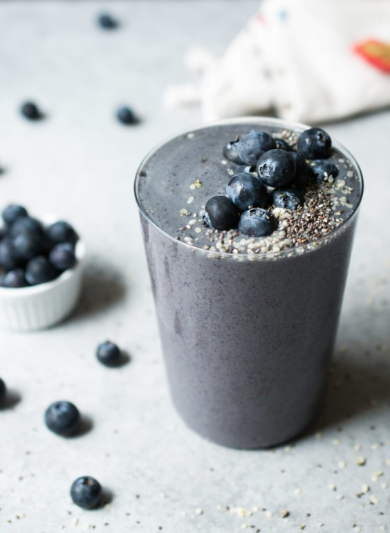 6. Wild Blueberry Zucchini Smoothie