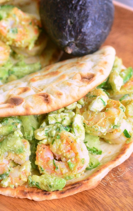 11. Avocado Shrimp Flatbread Sandwich