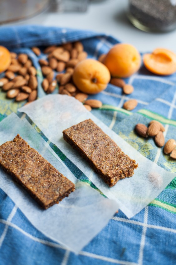8. Five-Ingredient Almond Apricot Chia Power Bars