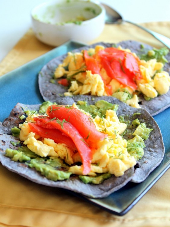 Healthy Tacos: Blue Corn Breakfast Tacos