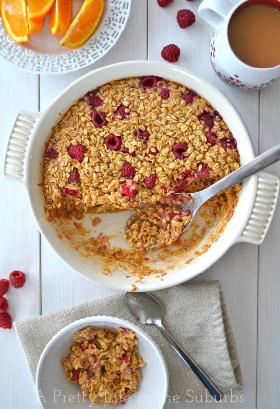 Healthy Casseroles: Raspberry Oatmeal