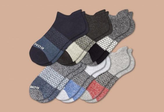 2. Bombas Tri-Block Marl Ankle Sock 6-Pack