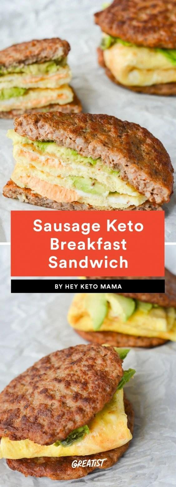 Sausage Keto Breakfast Sandwich