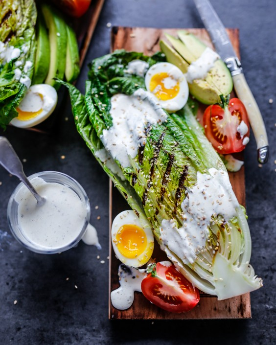 5. Grilled Romaine With Whole30 Ranch
