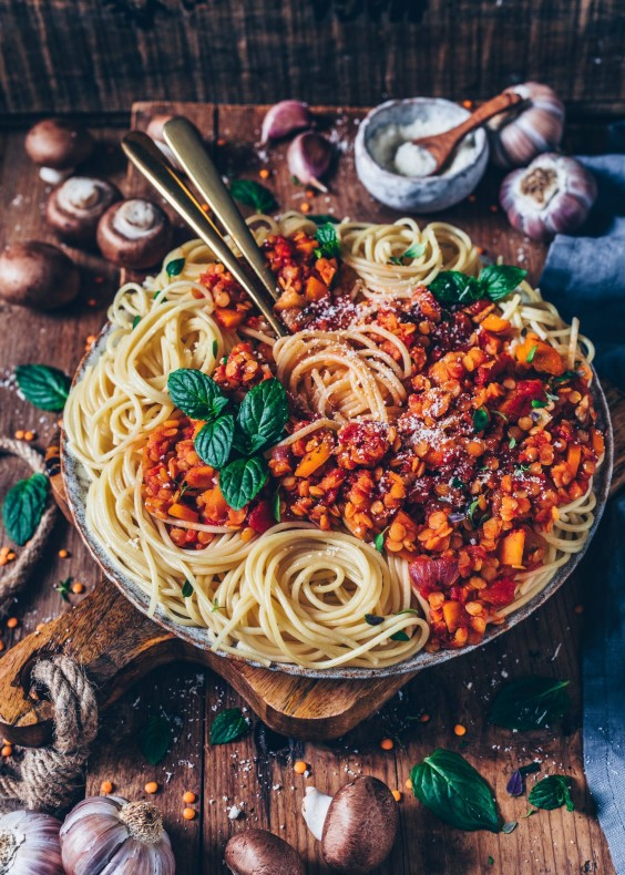1. Lentil Bolognese With Spaghetti