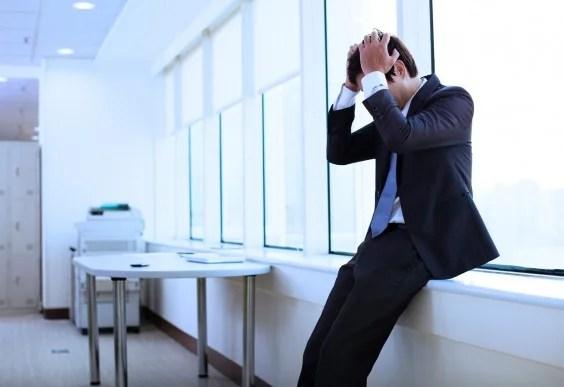 Man Worried at Work
