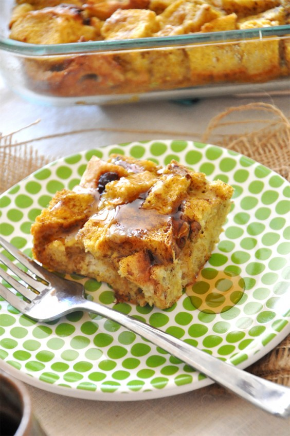 Healthy Casseroles: Pumpkin French Toast