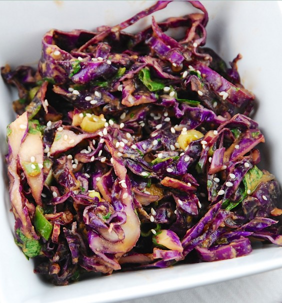 Asian Red Cabbage Salad