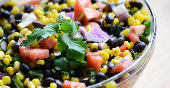 Roasted Corn and Poblano Salad With Lime Vinaigrette
