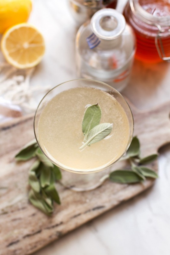 herb cocktails: Sage Bee's Knees