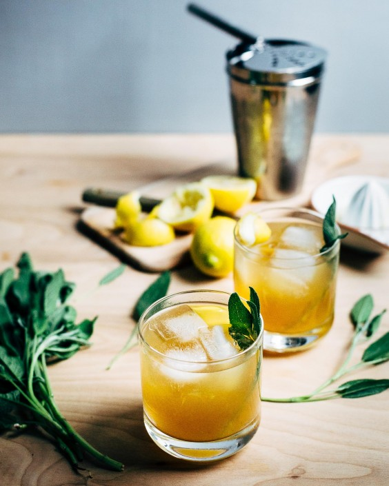 herb cocktails: Sage Gold Rush