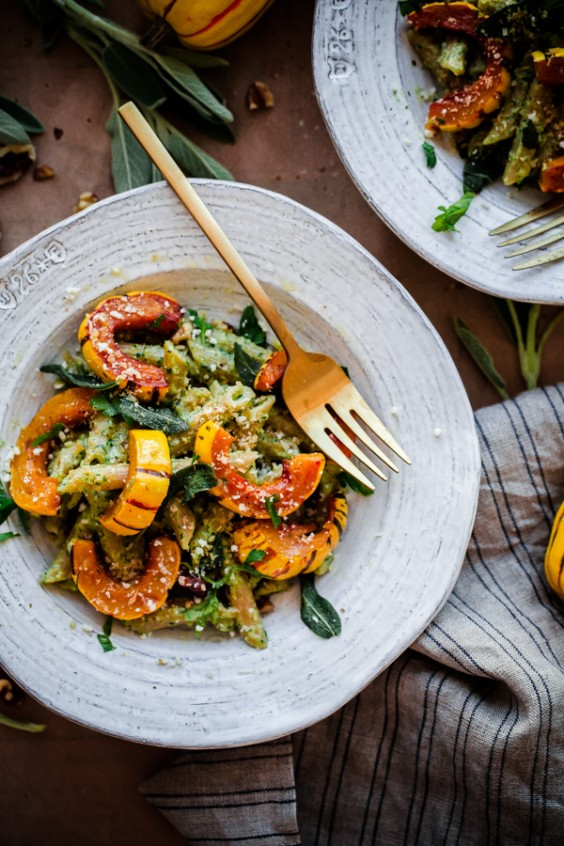 Whole Wheat Pasta With Delicata Squash