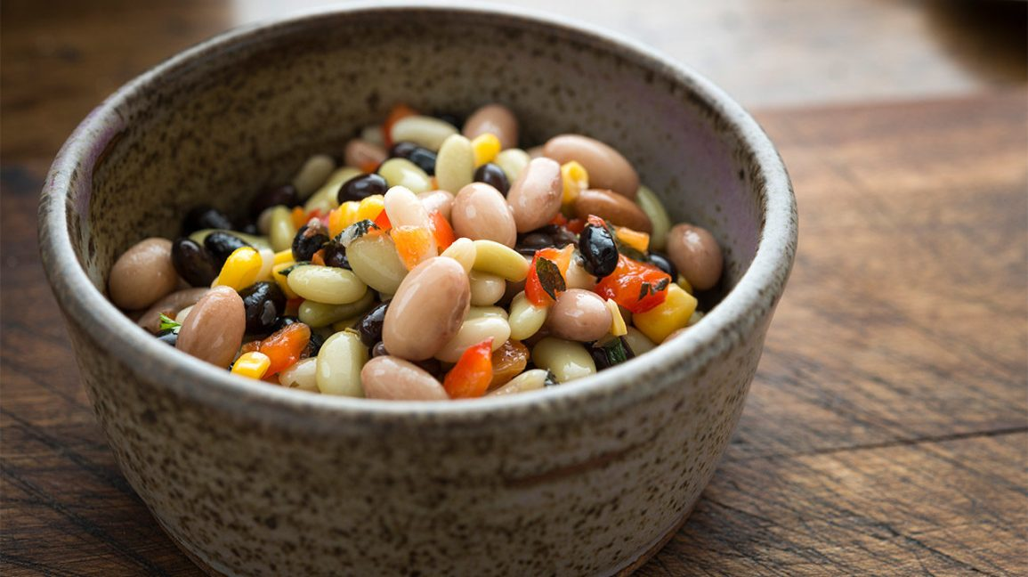 bean salad in a bowl