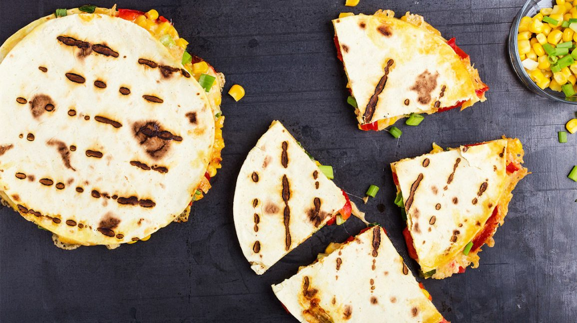 grilled quesadillas on a table