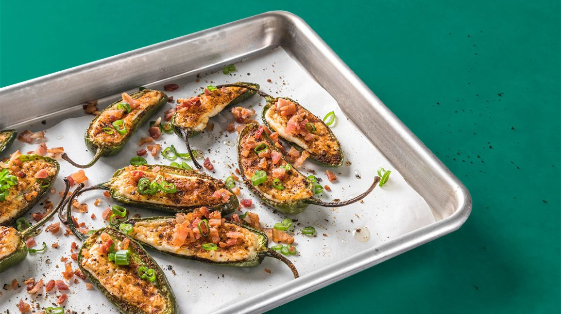 healthy super bowl snack with jalapeno poppers